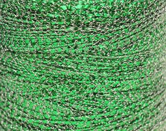 Vintage Green Silver String