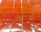 "RED-ORANGE POPPY Red 50 1/2"" Stained Glass Mosaic Tile Supply - StainedGlassLizard"