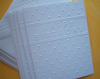 Set of 6 Embossed Birthday Cards