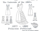 Victorian Princess Petticoat, Multi Size Sewing Pattern, 1880-10
