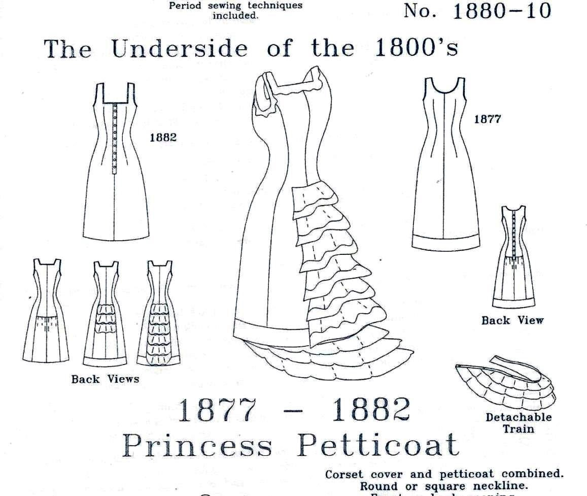 sewing patterns 1880 auto electrical wiring diagramvictorian underwear pattern princess petticoat historical