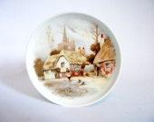 Vintage West Germany AK Kaiser Porcelain Plate Village Scene