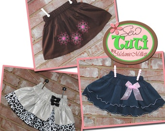 3 ADORABLE Drop Waist SKIRTS - PDF Downloadable Sewing Patterns