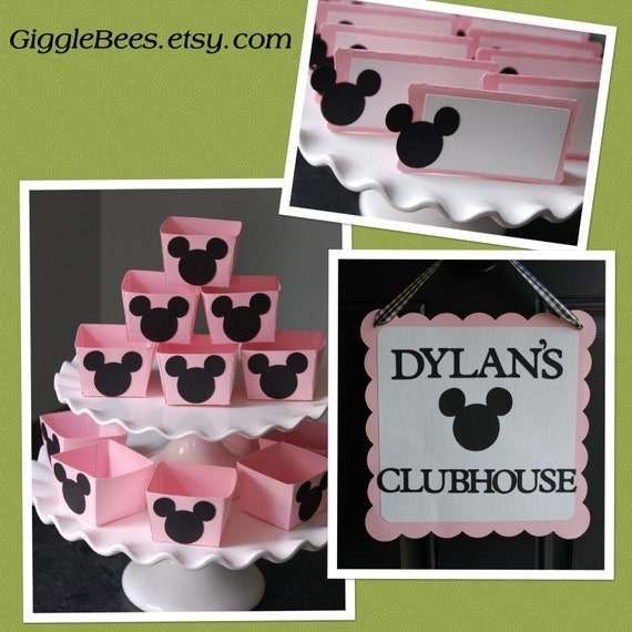 Items Similar To Minnie Mouse Party Package, Door Sign