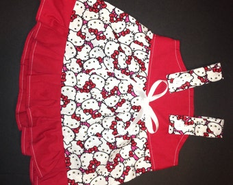 Hello Kitty Allover Baby Infant Toddler Girls Dress  You Pick Size