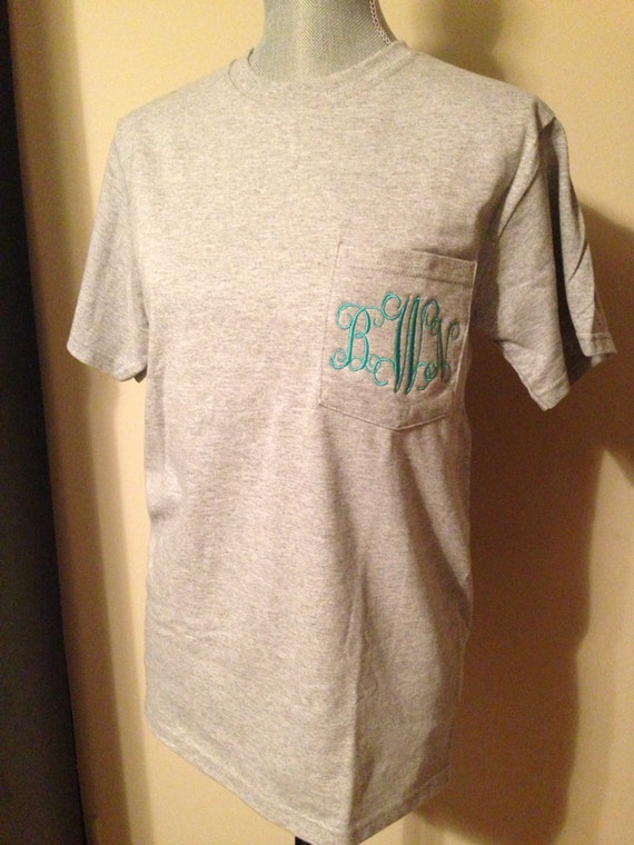 Monogram Pocket Tees , NEW COLORS AVAILABLE