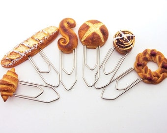 Paper Clips with handmade Miniature Breads