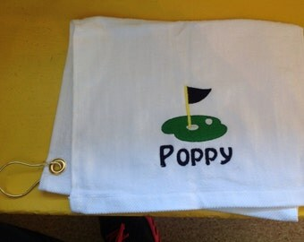 Personalized golf towel, Dad golf gift, golf, golf gift for men, quick ship, custom golf gift, golf tourniment, golf fund raiser, lady golf