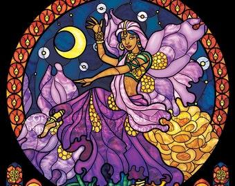 Rose Window - Diwali Dancers