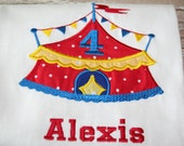 Circus Tent Themed Birthday Personalized Number Shirt