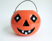 Vintage Jack O Lantern Pumpkin - Rosbro Miller Light Up Type - Spooky Retro Antique Halloween Decor - Party Decoration
