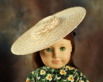 Exclusive item - 3 pack of Wide Brimmed Natural Straw Hats for 18-inch dolls