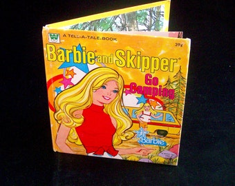 Vintage Children's Book - Barbie and Skipper Go Camping - 1973