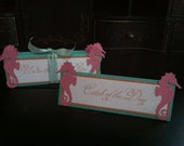 Under the Sea Mermaid Tent Cards Birthday Decoration Buffet Place Cards