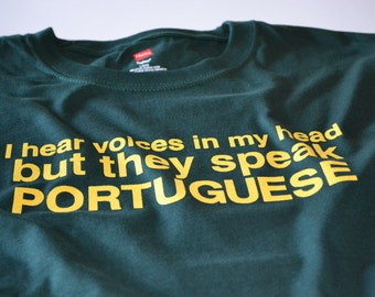 Portugal Shirt Funny Portuguese T shirt Portugal Shirt for Men Speak Portugese Tshirt