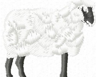 Sheep Machine Embroidery Design - Instant Download