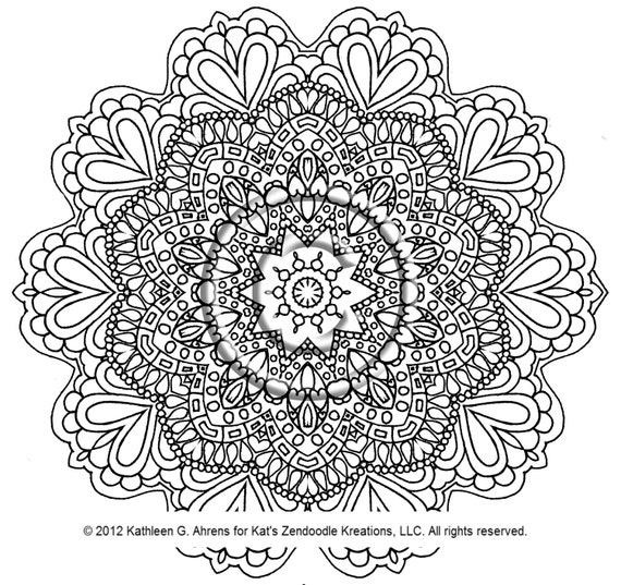 instant pdf download coloring page hand drawn by kgakreationsllc