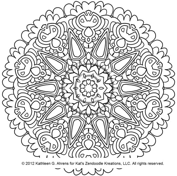 kaleidoscope coloring pages to download - photo #43