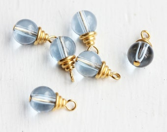 Glass Bead Charms (6x)