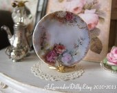 Floral Limoge Plate for Dollhouse