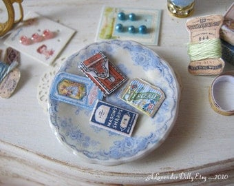 Vintage Sewing Needle Cases for Dollhouse