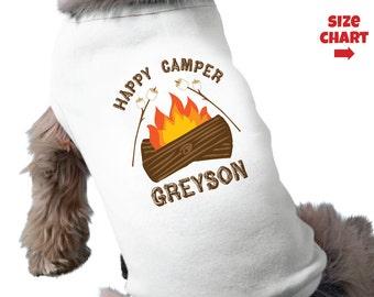 Happy Camper Dog Shirt - Personalized Dog Camp Shirt