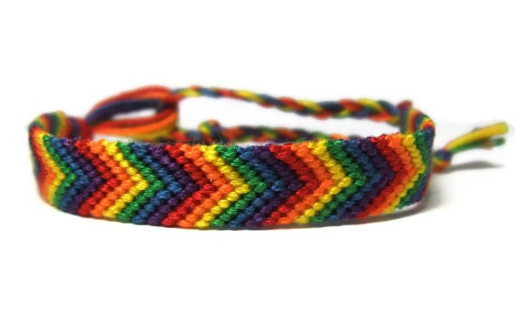rainbow chevron arrow friendship bracelet made to order