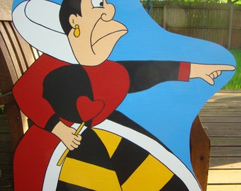 Mad Queen of Hearts 3' ht - Alice in Wonderland Event and Party Prop and Art or Set Decoration