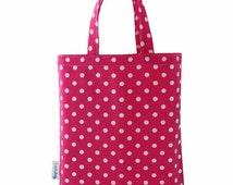 Pink Polka Dot Party Bag, Fabric Gift Bags, Loot Bags, Favor Bags