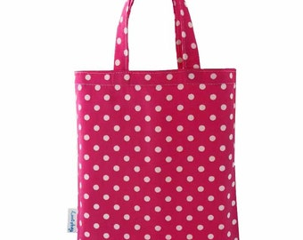 Pink Polka Dot Party Bag, Fabric Gift Bags, Loot Bags, Favor Bags