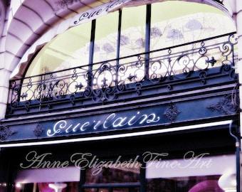 Paris Photography-Paris In Pink-Guerlain Boutique-Pink-Fashion-Preppy Dorm Decor-Paris Decor-Fashionista-Vintage Paris Print-French Chic Art