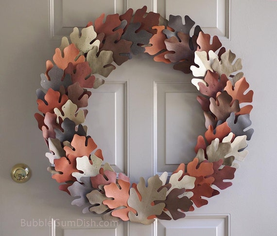 Decorating Ideas > Thanksgiving Decor Autumn Wreath Leaves Tea Dyed Paper Leaf ~ 070224_Thanksgiving Decorations On Etsy