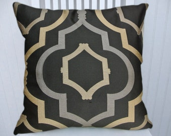 Silver Gold Pillow Cover-18x18 or 20x20 or 22x22-Decorative Throw Pillow Cover, Accent Pillow Cover