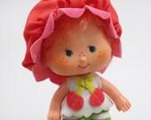 Vintage Strawberry Shortcake Friend Cherry Cuddler Doll Figure 1980s toy