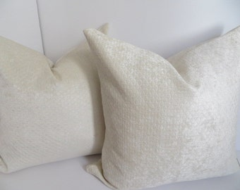 2 Pillow Covers -Cream Pillow Covers -Decorative Pillows - Home Decor Pillows - Accent Pillows - Pillow Covers - Cream Pillow Cover - 18x18
