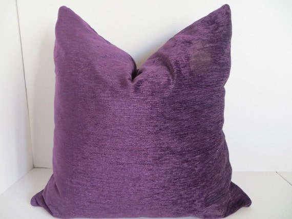 Plum Pillow Coveres, Lilac Velvet Pillow Covers, Decorative Pillow Covers , Plum Pillows ...