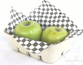 12 LaRGe GReY Berry Baskets-pulp paper-Party Favors-Weddings-Showers--Packaging-