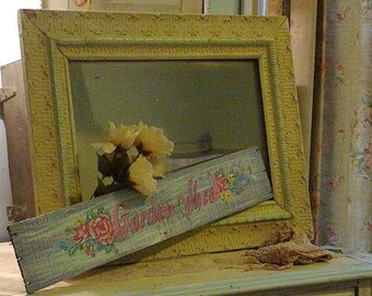 Antique Frame Shadow Box Painted Huge Victorian Store Display Shabby Chic Cottage