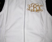 Ladies Soft Fleece Vest- Monogrammed FREE. . .get one in every color-- plus---great gift idea