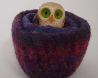 wee felted wool bowls set of two ring holder jewelry holder desktop storage