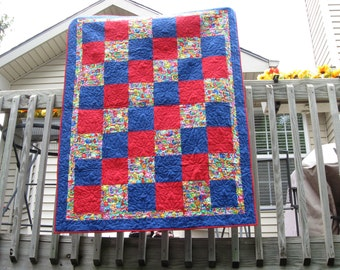 Red and Blue Love Quilt