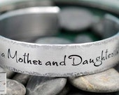 Personalized Bracelet - Handstamped Jewelry - The Love Between a Mother and Daughter is Forever - Gift for Mom - Mother's Day Gift