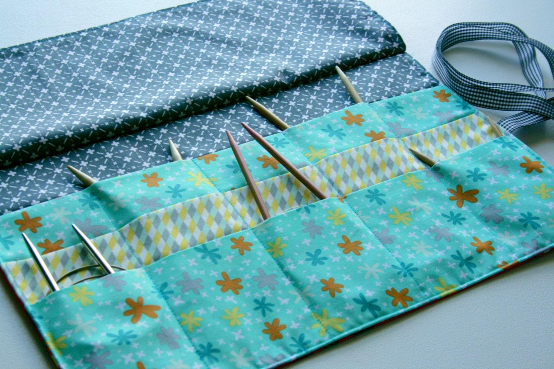 Circular Knitting Needle Case Sewing Pattern : Circular Knitting Needle Wallet PDF Pattern
