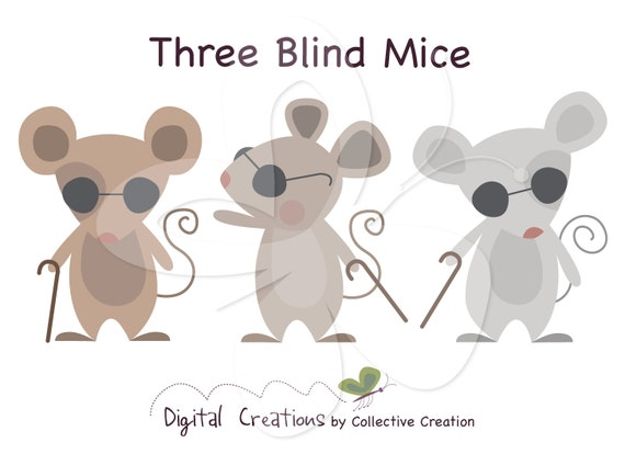 Three Blind Mice Digital Clip Art Clipart by ...