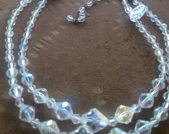 Aurora Crystal Double Necklace