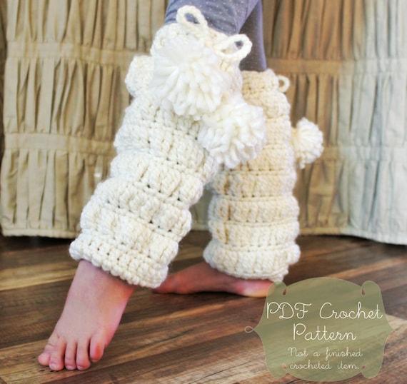 Crochet Pattern: The Bianca Leg Warmers Toddler Child