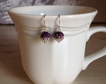 Beautiful Amethyst Crystal Earrings