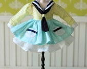 PO - Anniedollz Blythe Sailor Middy Collared Dress - Lemon