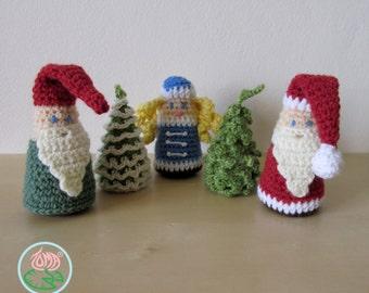 Amigurumi Christmas Decorations : Amigurumi Christmas Ornaments 4 designs PDF by tomacreations