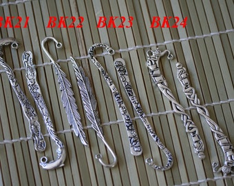 6 Small Bookmark Antique Silver Finishing Double Sided